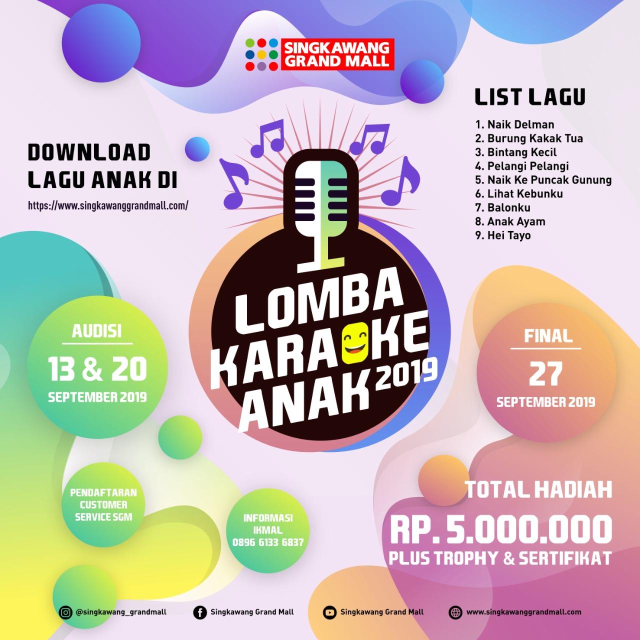 Lomba Karaoke Anak 2019